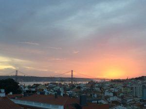 Sunset Skyline Lisbon