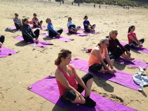 Beach Yoga Pembrokeshire