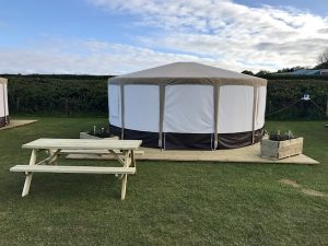 Yurt Glamping, Gower peninsula, Wales