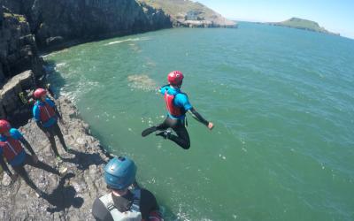 Coasteering Jump, Gower