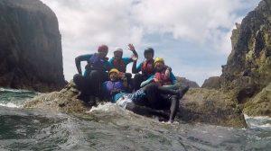 Friends group Coasteering