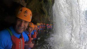 Gorge Walking Brecon Beacons Waterfall