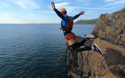 Coasteering Activity Gower, Wales