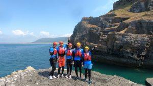 Family Activity Day Coasteering in Wales
