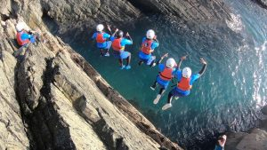 Coasteering adventure Pembrokeshire in Wales