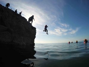 Coasteering Activity in Wales