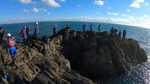Coasteering Pembrokeshire, Wales