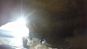 Sunlight through the Benagil Caves