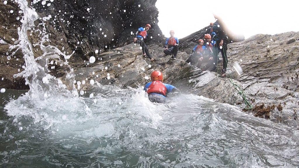 Coasteering on Snowdonia trip