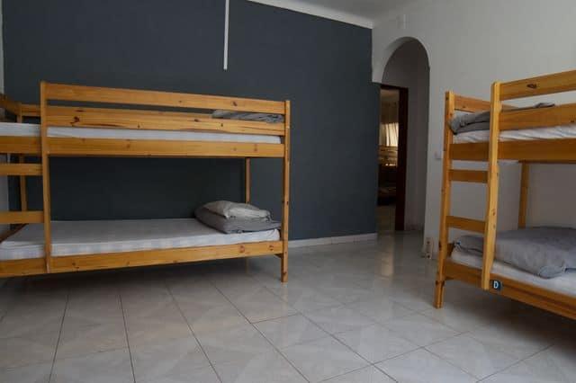 Private bunk bedroom in hostel in Lagos, Algarve