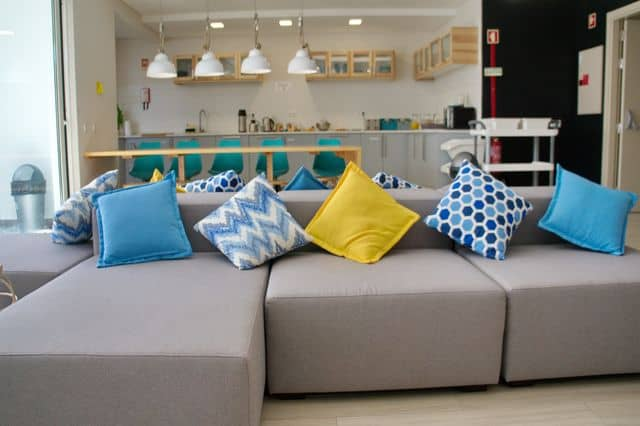 Living room in hen accommodation Lagos, Algarve