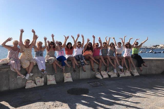 Hen group on a Tuk Tuk Tour in Lisbon