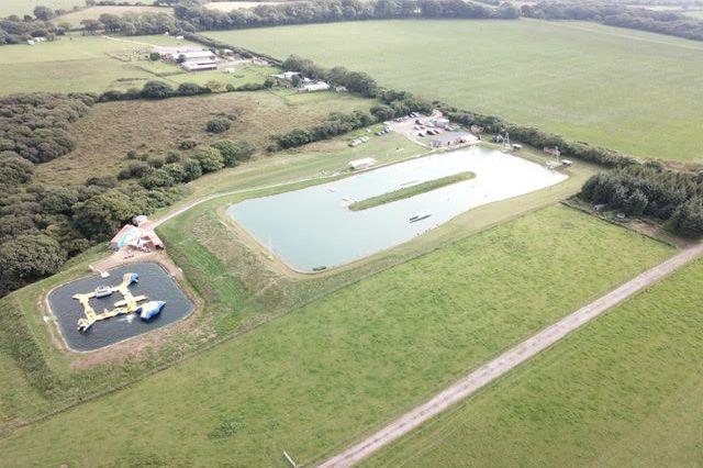 Drone view of Pembrokeshire Wakepark