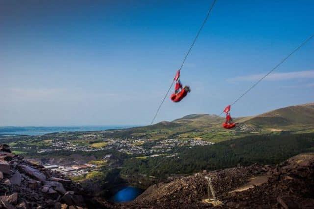 The Velocity Zipline in ZipWorld Snowdonia