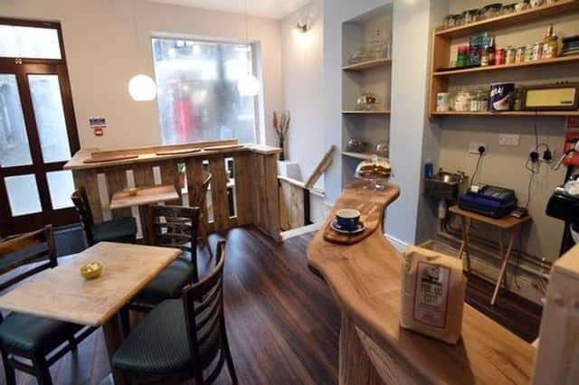 Bar & breakfast area in group hostel Caernarfon, North Wales