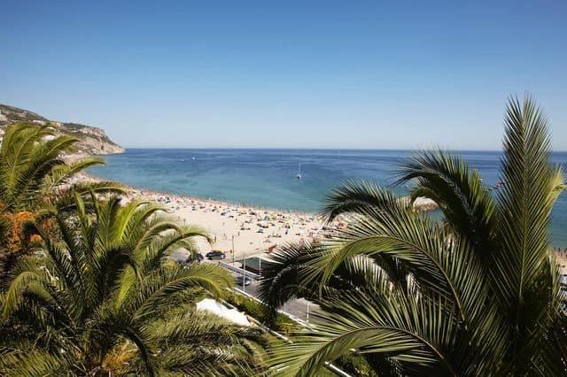 Beach views from company retreat hotel Hotel do Mar in Sesimbra