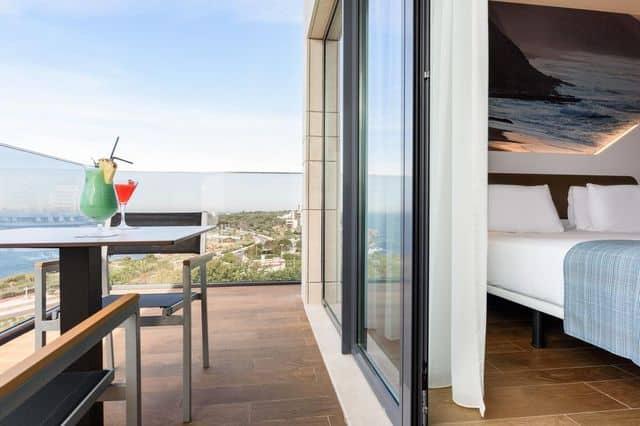 Twin room with balcony at Eurostar Hotel in Cascais near Lisbon