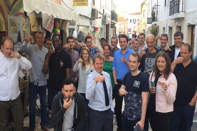 Lisbon Tuk Tuk tour as part of a large team company retreat with Big Blue Adventures