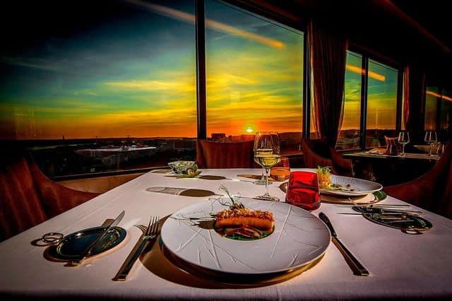 Sheraton Hotel Lisbon sunset dinner
