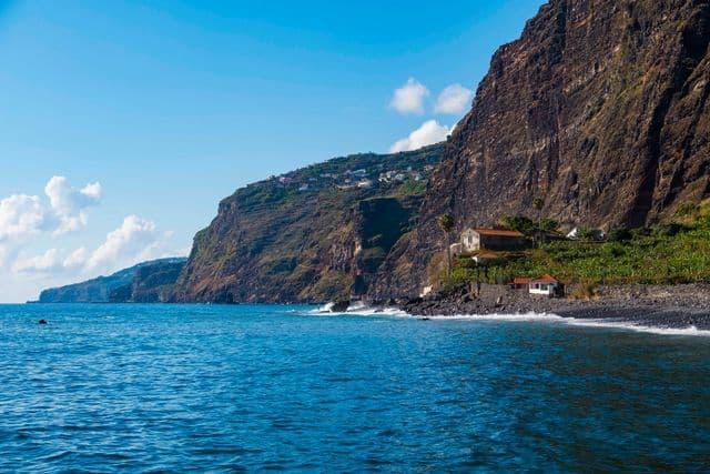 Exploring the beautiful coastline of Madeira on a sea-kayaking activity