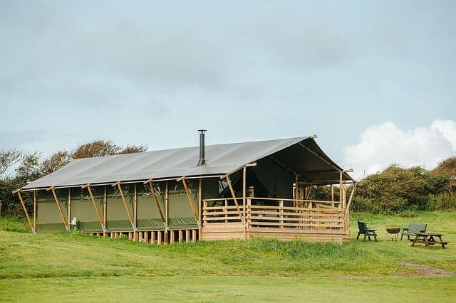 Safari tent lodge for adventure team building in Wales