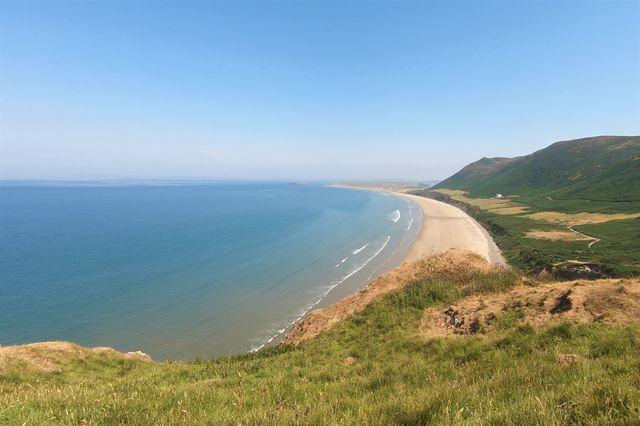 Rhossili Bay beach in Gower near Swansea